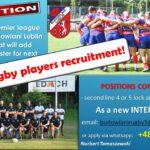 Rugby Club Edach Budowlani Lublin seek players !